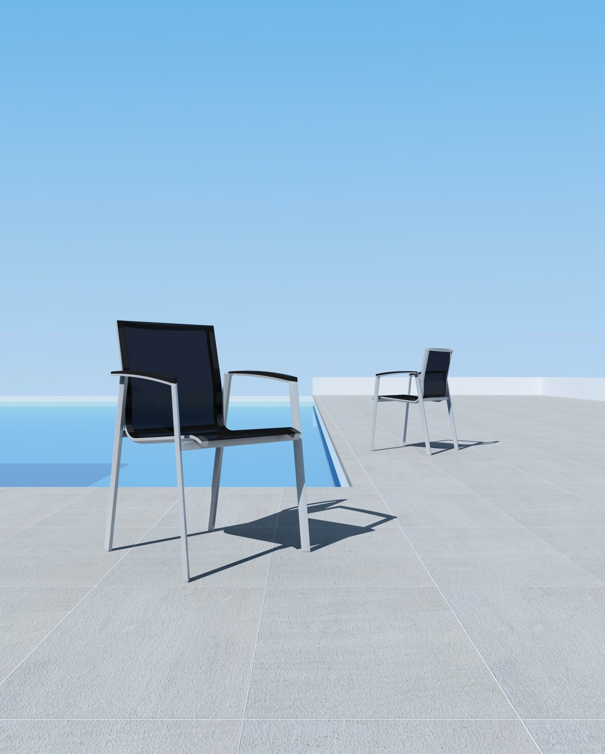 bali sessel mit armlehne silber aluminium mazuvo. Black Bedroom Furniture Sets. Home Design Ideas