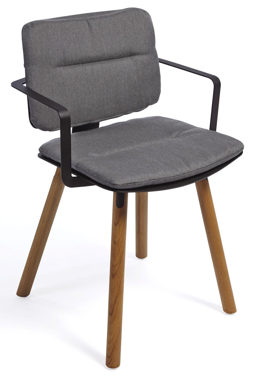 coco stuhl ohne armlehne teak alu mazuvo gartenm bel. Black Bedroom Furniture Sets. Home Design Ideas