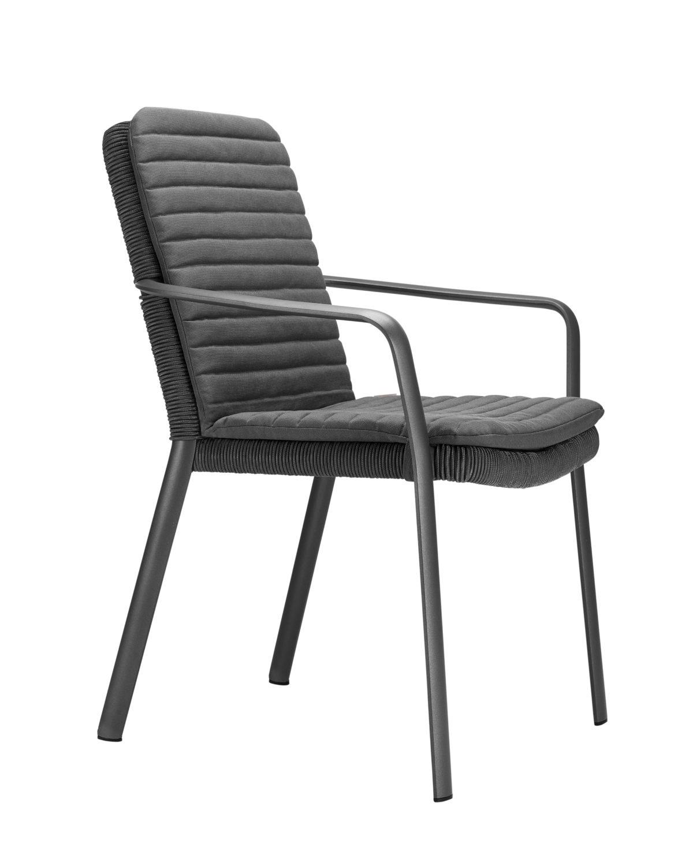 air sessel mit armlehne anthrazit anthrazit aluminium. Black Bedroom Furniture Sets. Home Design Ideas