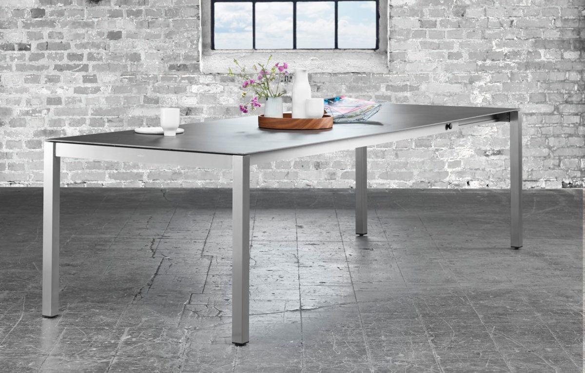 atelier auszugstische edelstahl keramik ab 140 200x80cm mazuvo gartenm bel. Black Bedroom Furniture Sets. Home Design Ideas