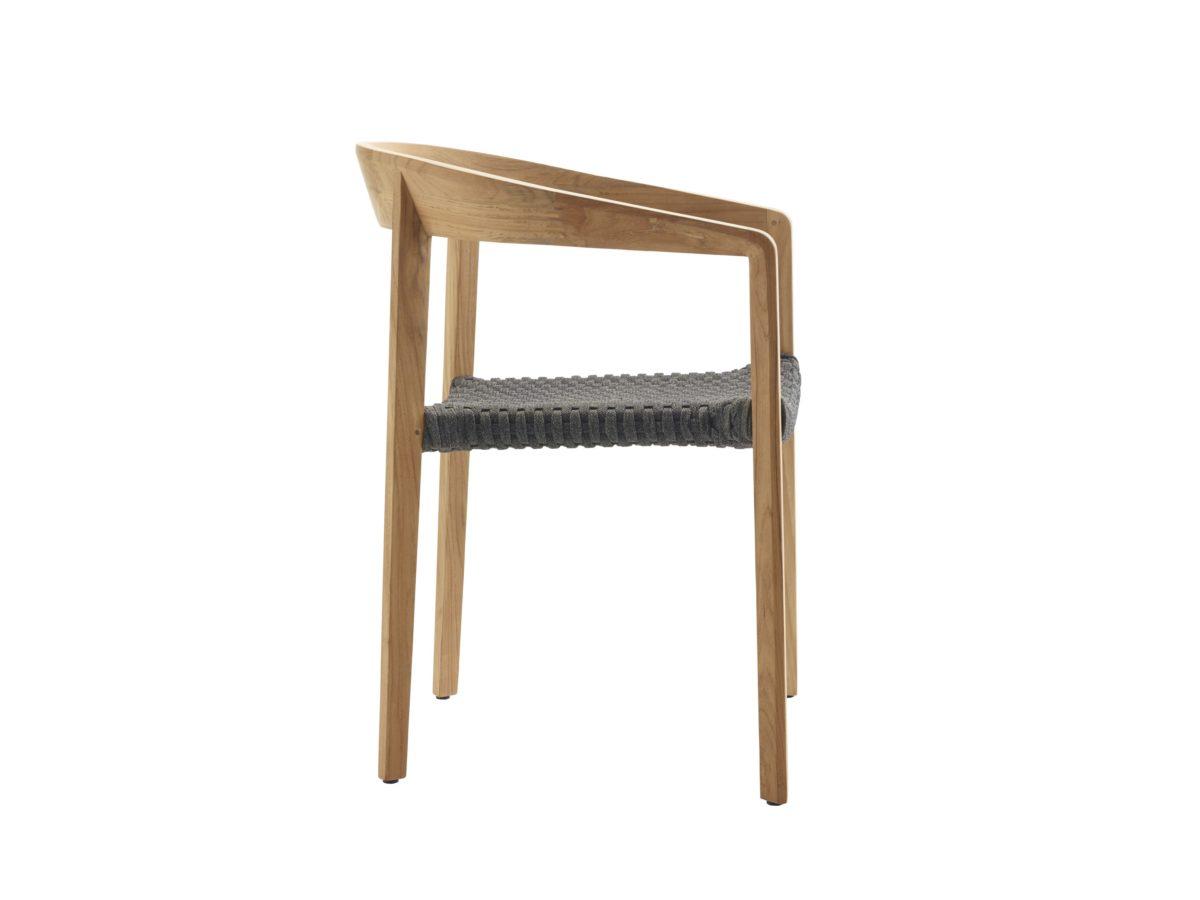 Lodge Sessel mit Armlehne, Teak/String Flex - Mazuvo Gartenmöbel