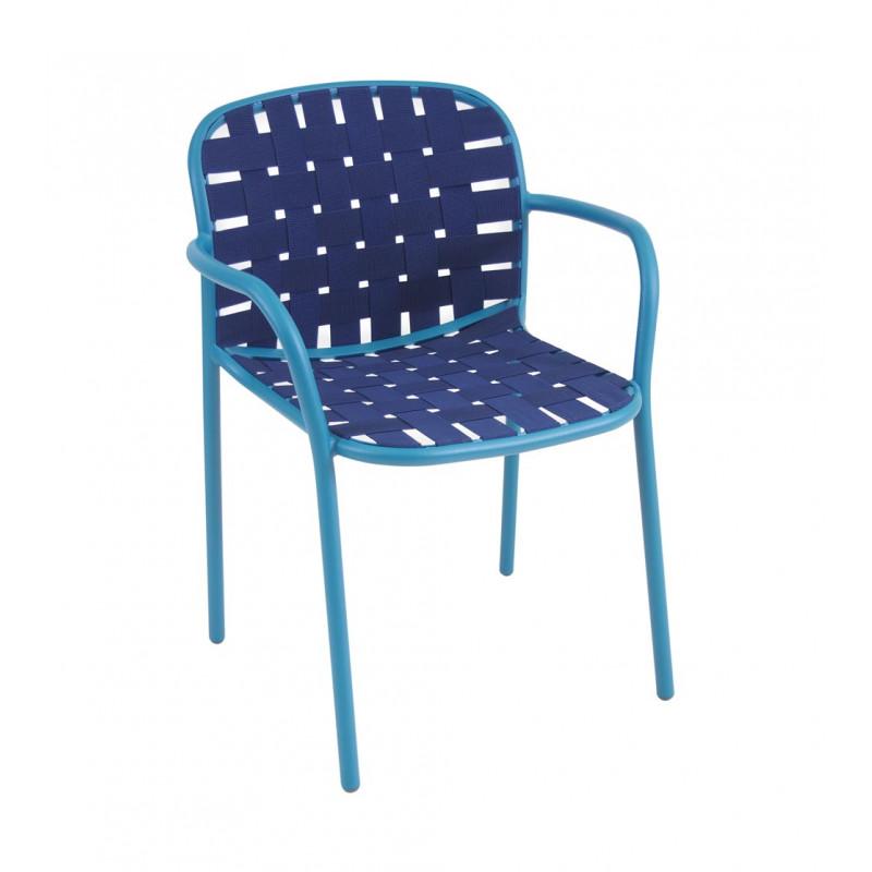 Yard Sessel, mit Armlehne, Alu - Mazuvo Gartenmöbel